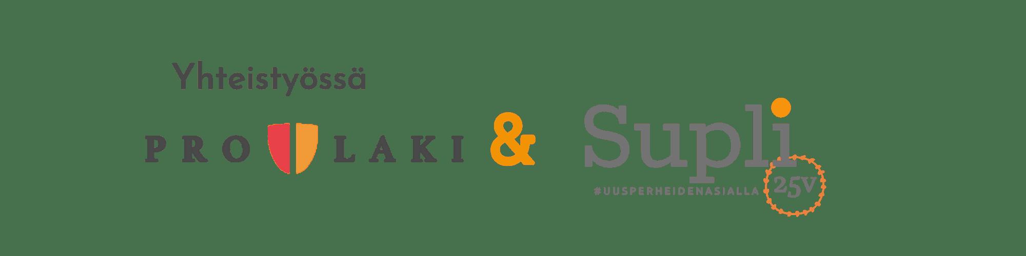 Yhteistyössä Pro Laki ja Supli